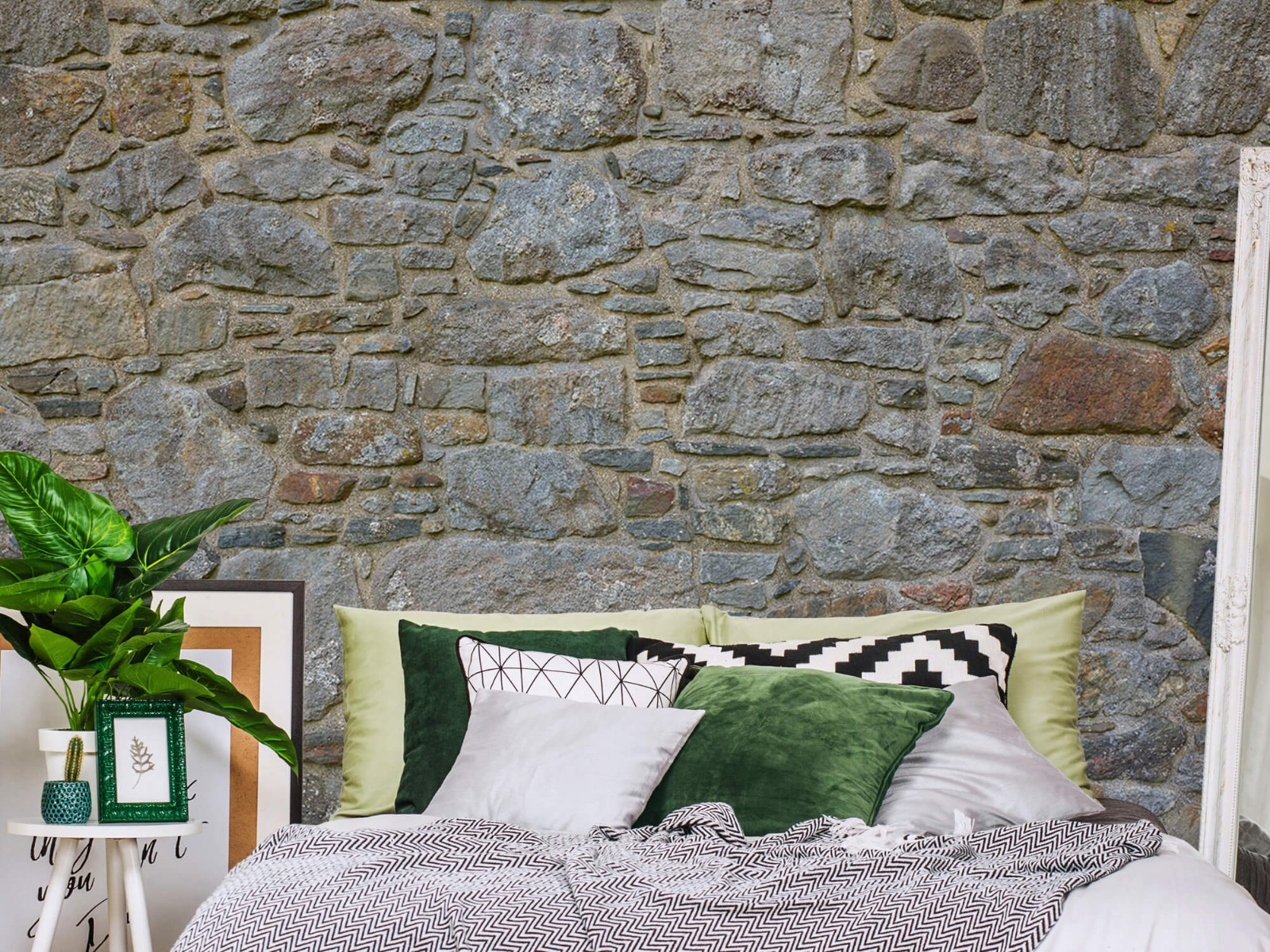 Papier peint en pierre - Mur de pierre médiéval - Chambre à coucher 13