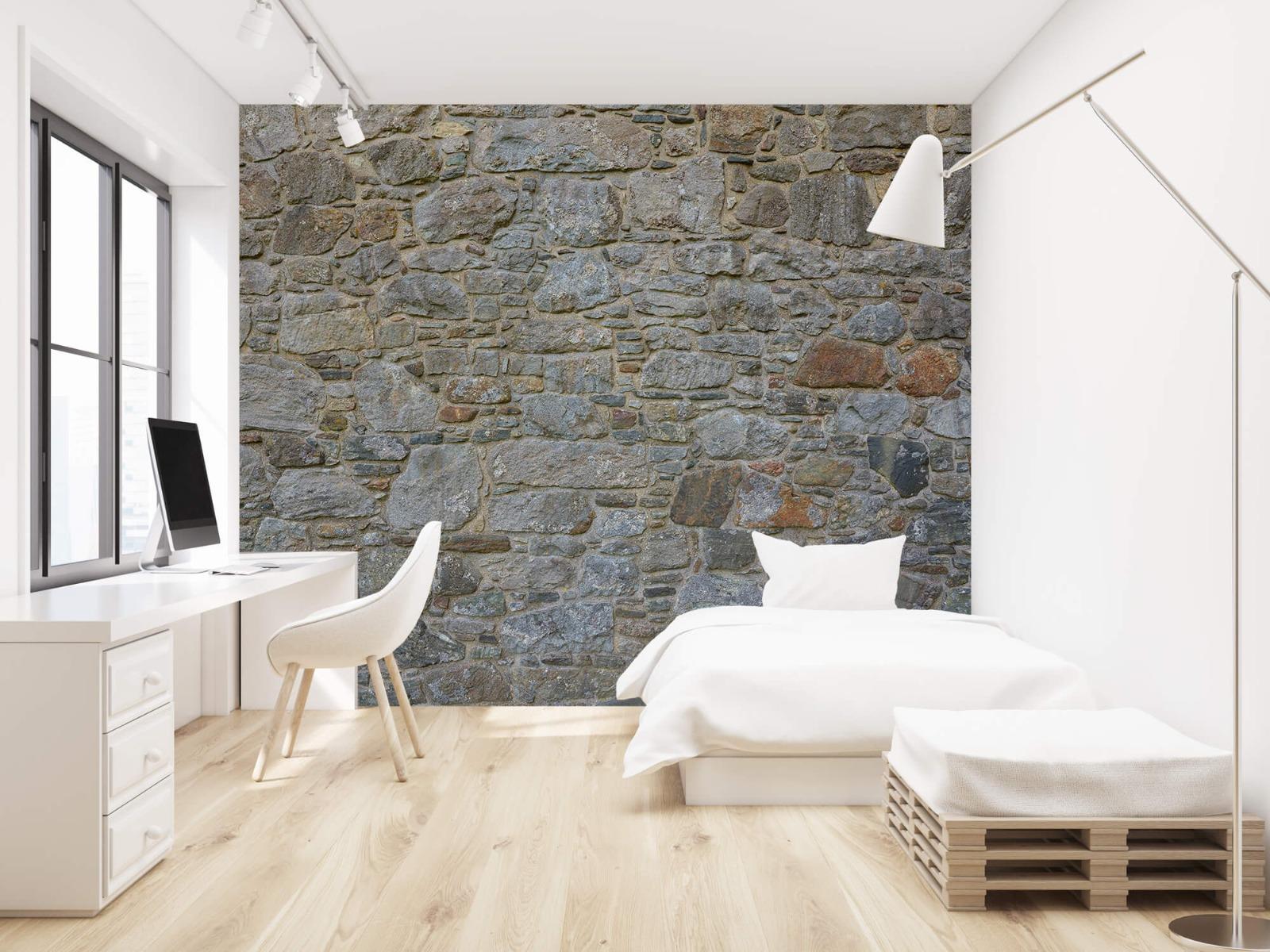 Papier peint en pierre - Mur de pierre médiéval - Chambre à coucher 1