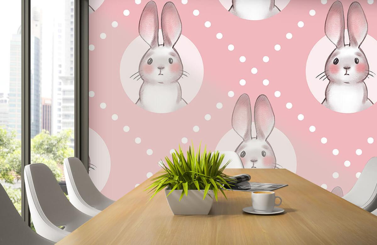 Pattern Motif de lapin rose 6