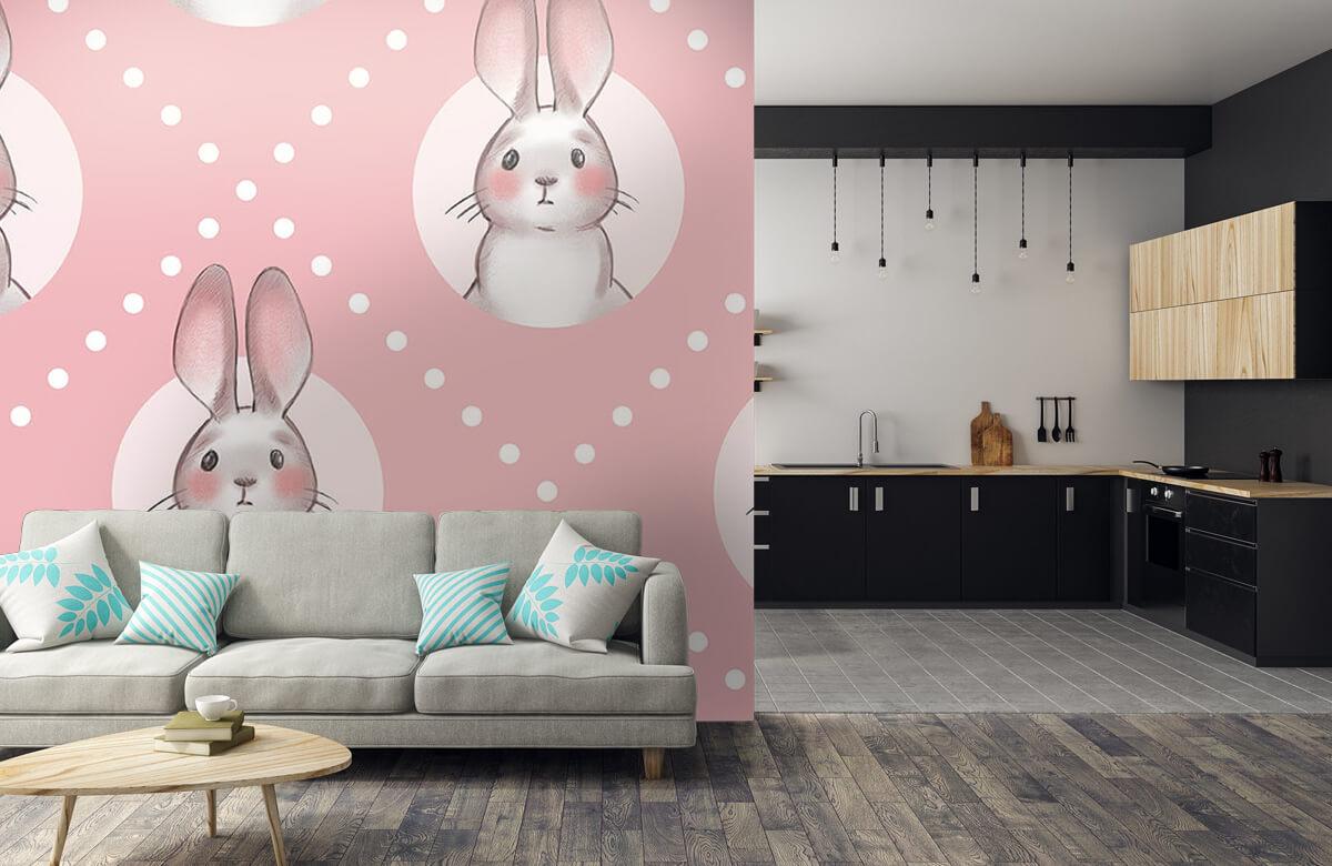 Pattern Motif de lapin rose 10