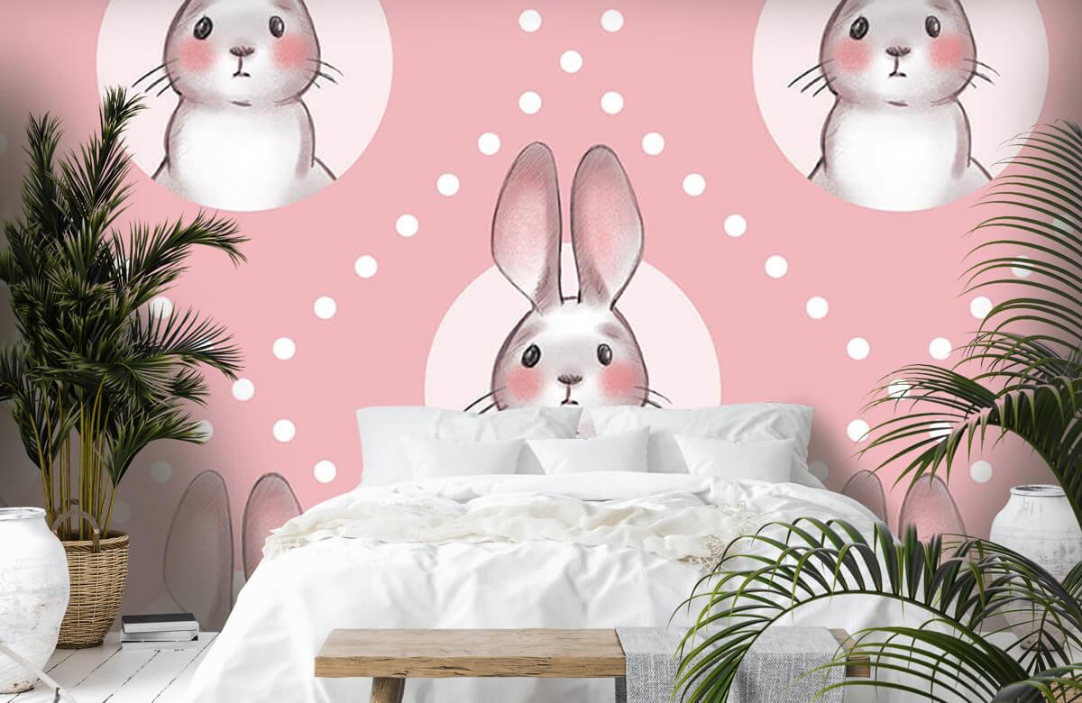 Pattern Motif de lapin rose 7