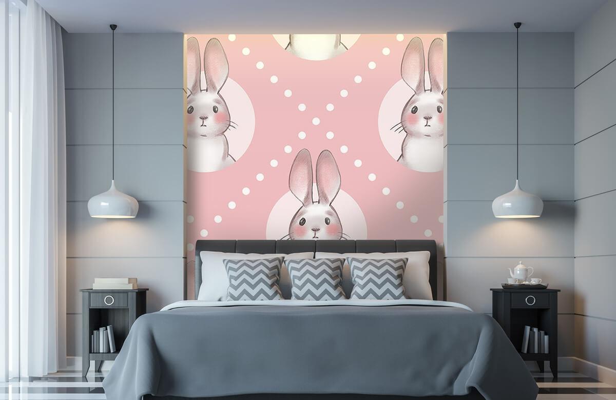 Pattern Motif de lapin rose 11
