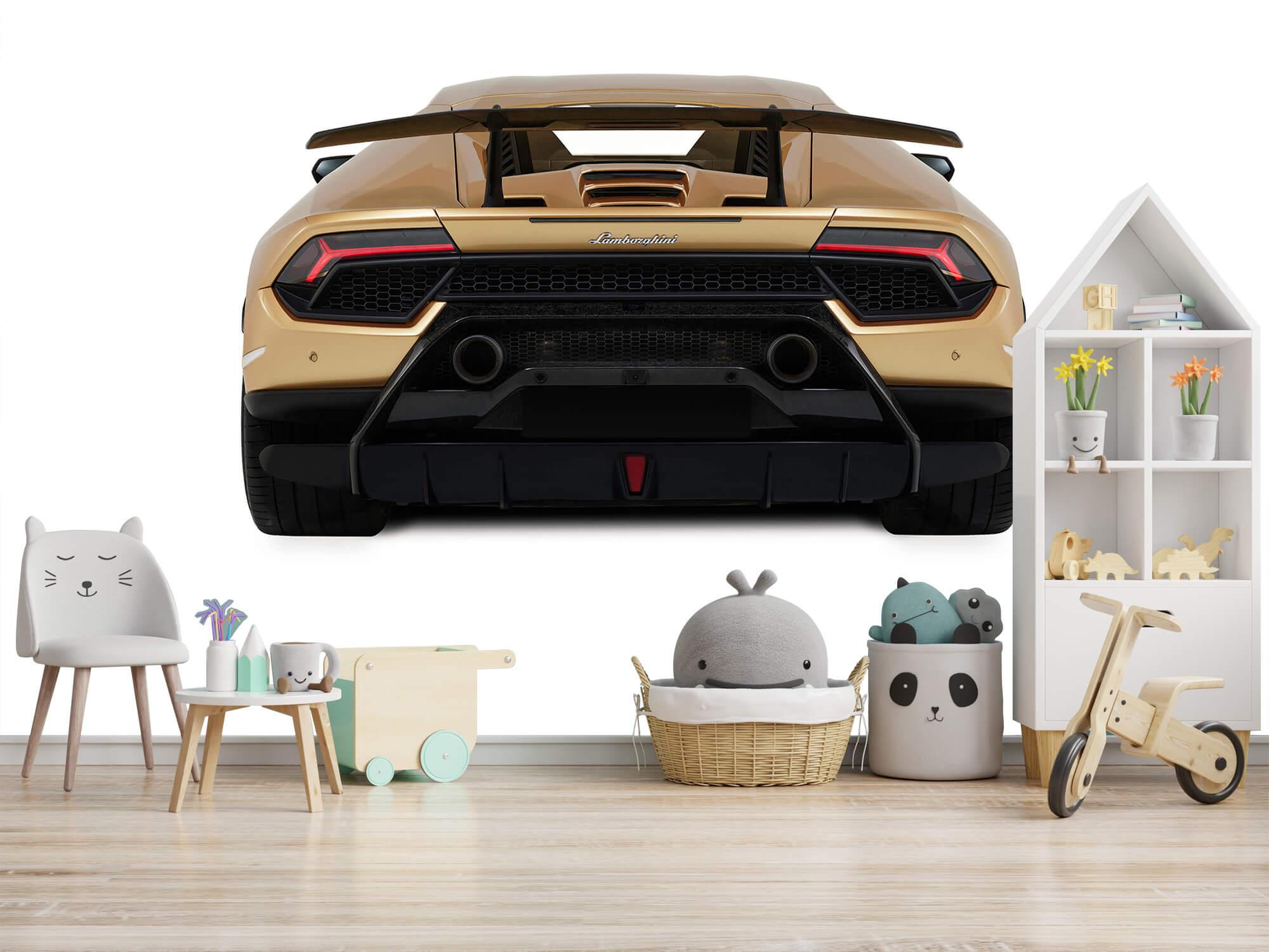 Wallpaper Lamborghini Huracán - Vue arrière, blanc 8
