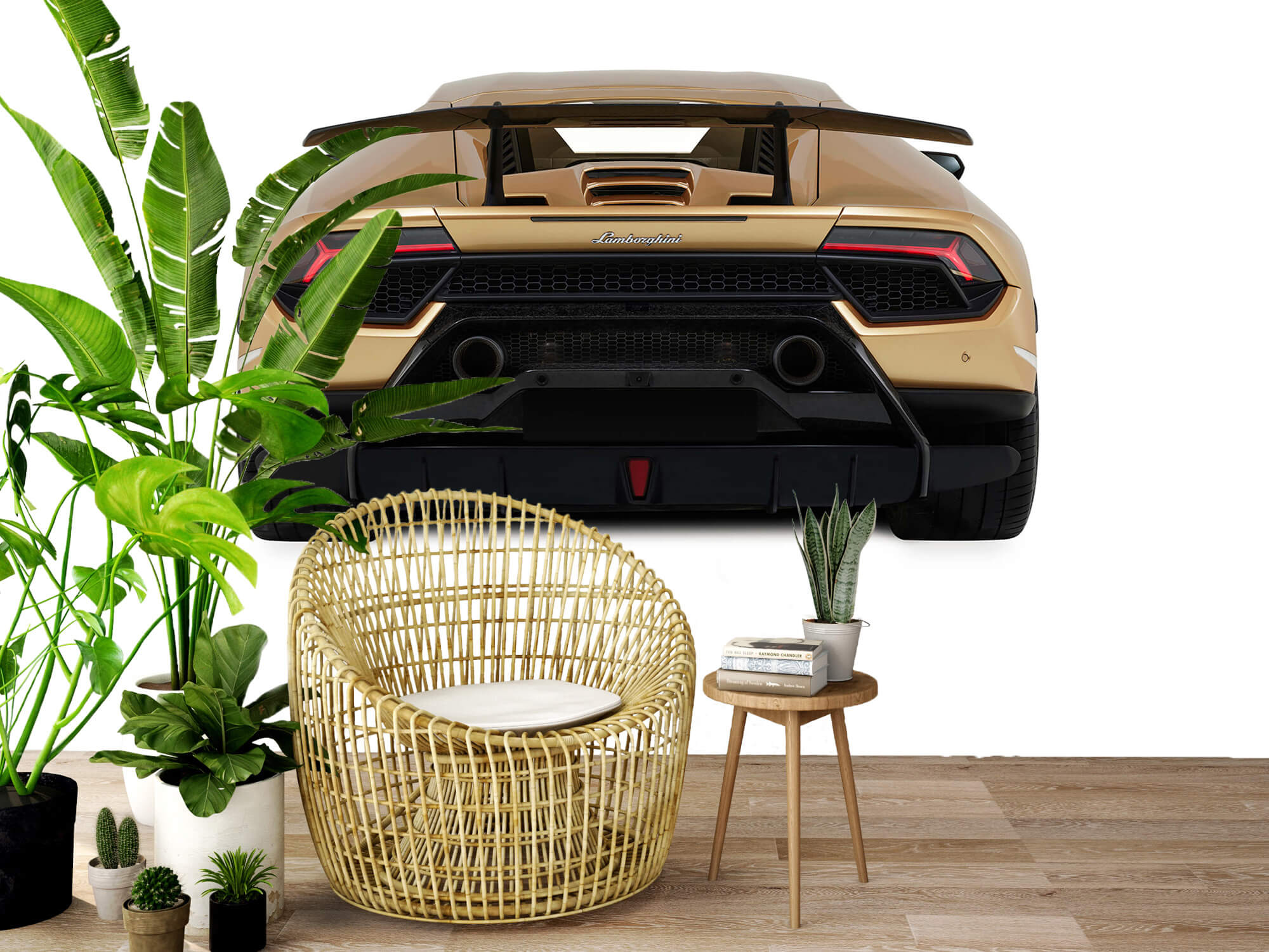 Wallpaper Lamborghini Huracán - Vue arrière, blanc 7