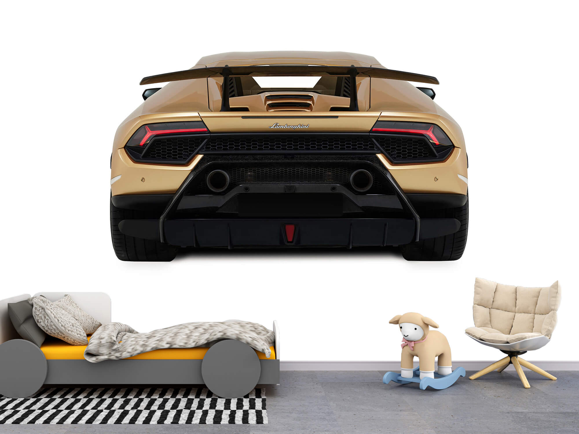 Wallpaper Lamborghini Huracán - Vue arrière, blanc 1