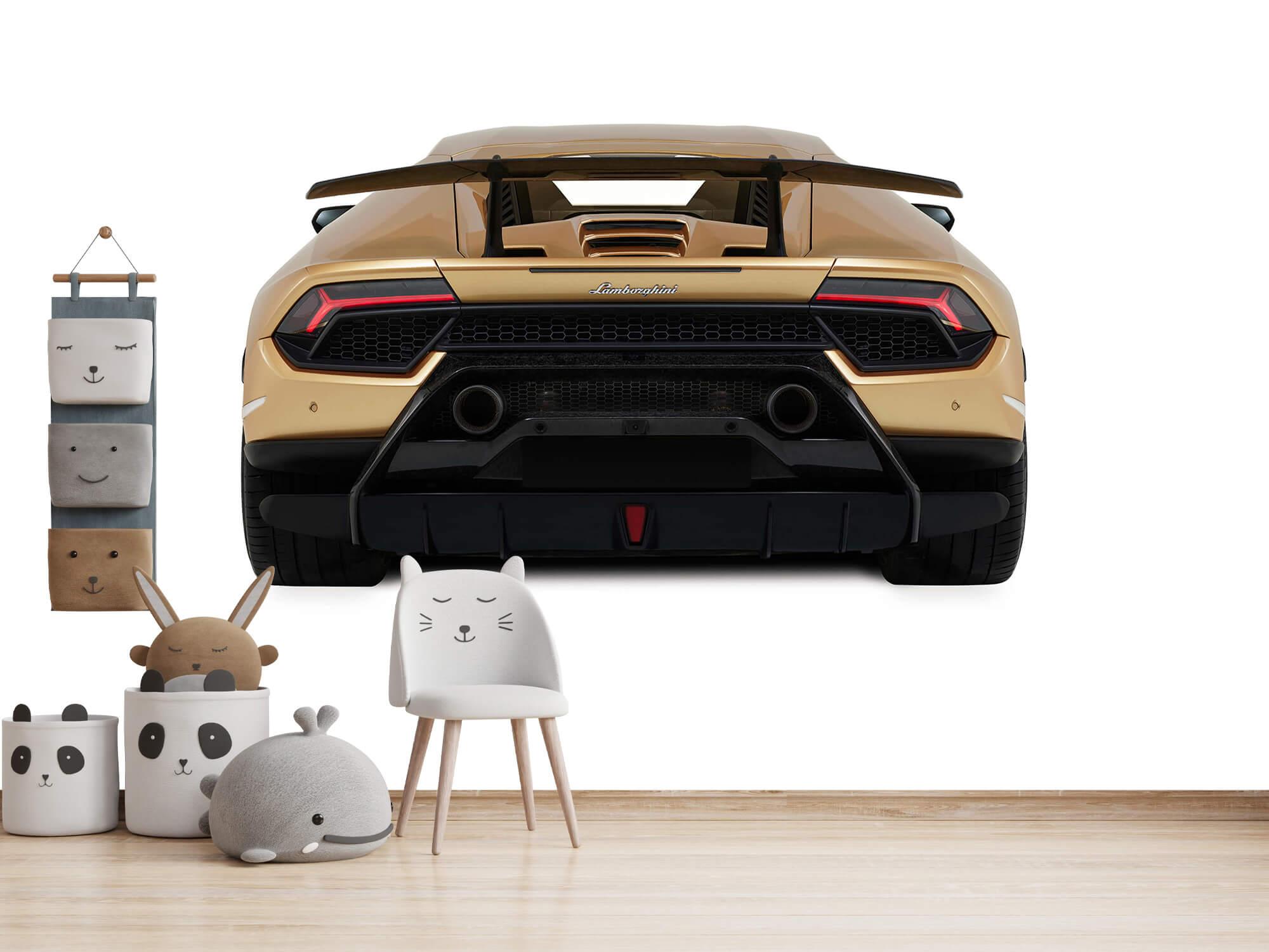 Wallpaper Lamborghini Huracán - Vue arrière, blanc 13