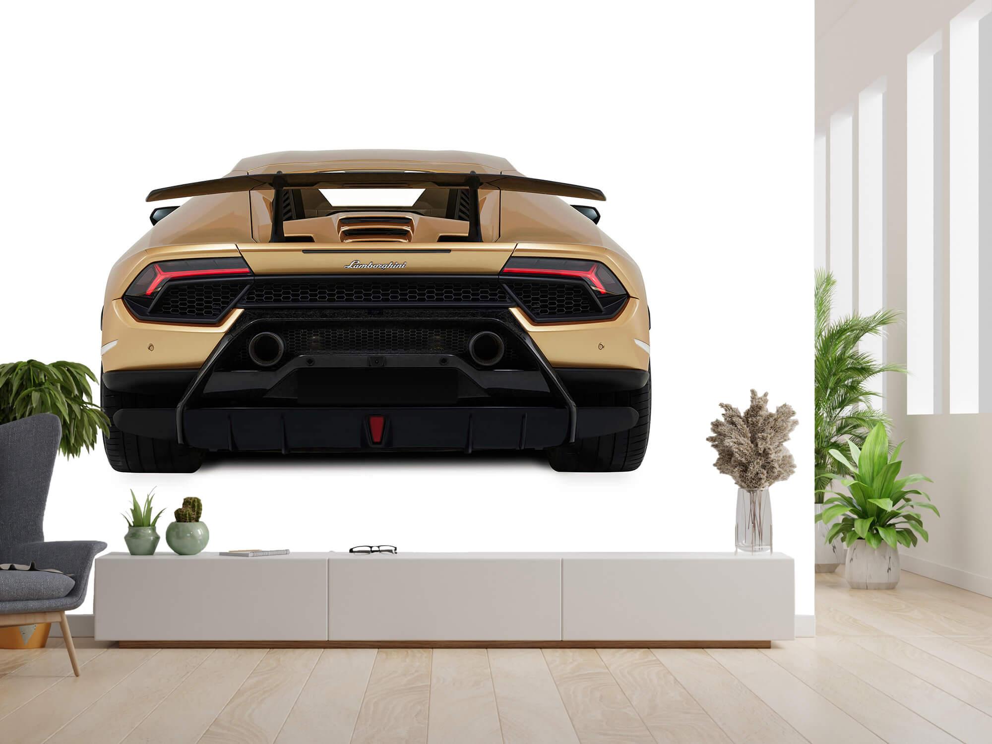 Wallpaper Lamborghini Huracán - Vue arrière, blanc 14