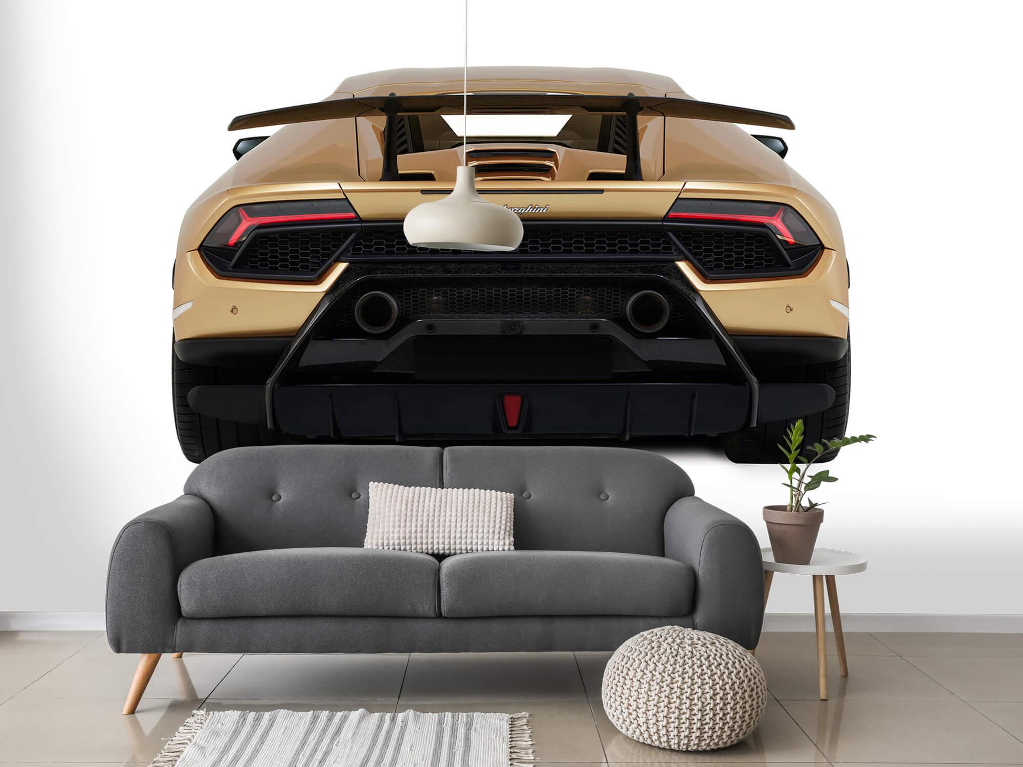 Wallpaper Lamborghini Huracán - Vue arrière, blanc 3