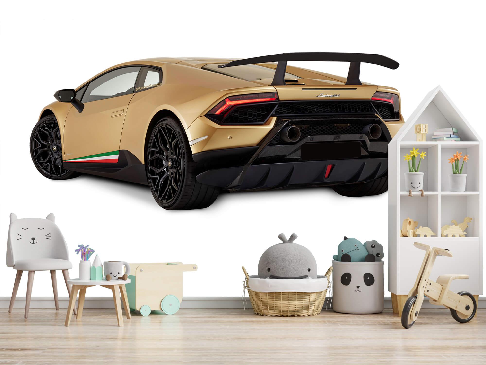Wallpaper Lamborghini Huracán - Côté arrière gauche, blanc 8