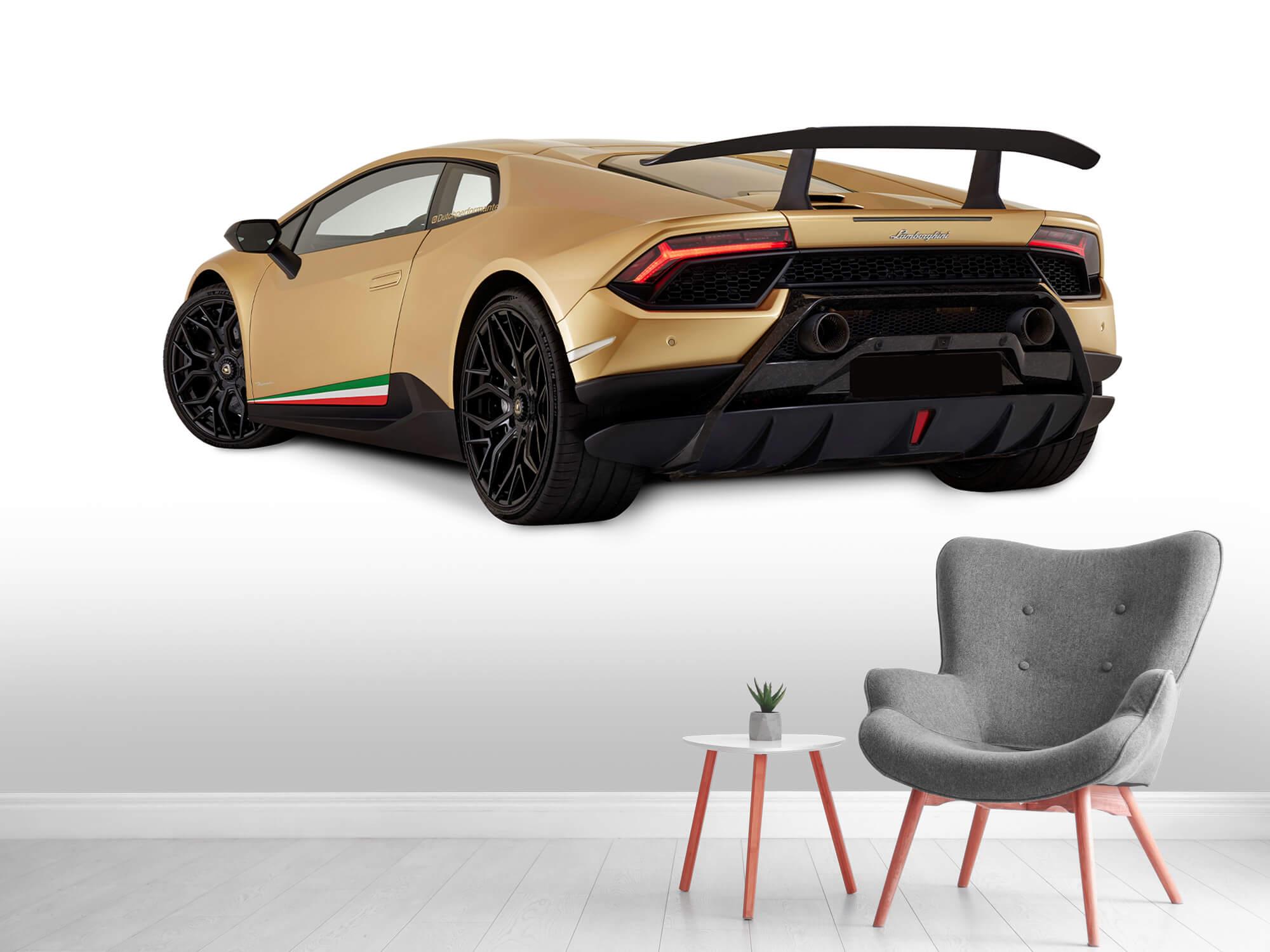 Wallpaper Lamborghini Huracán - Côté arrière gauche, blanc 4