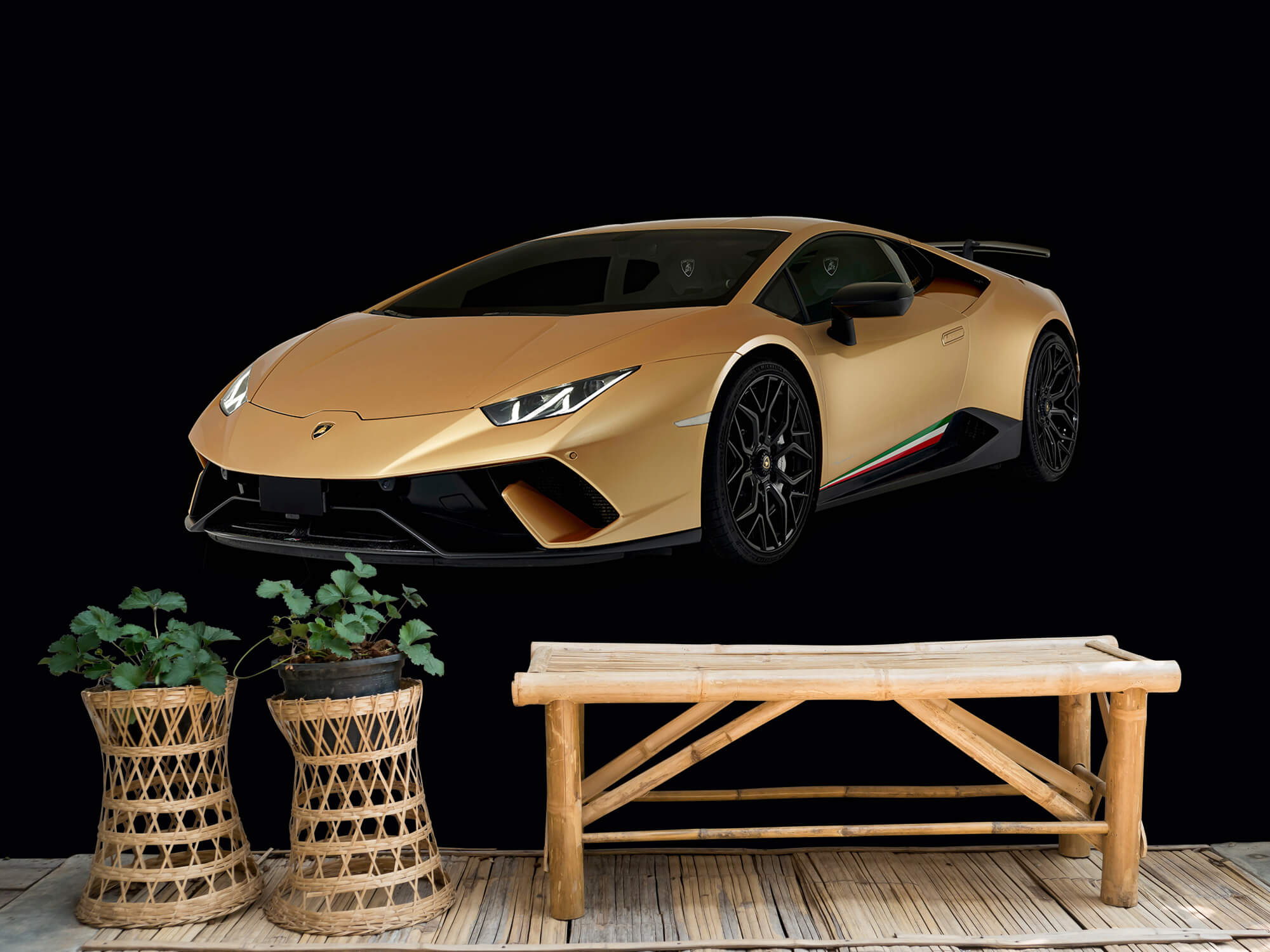 Wallpaper Lamborghini Huracán - Avant droit, noir 6