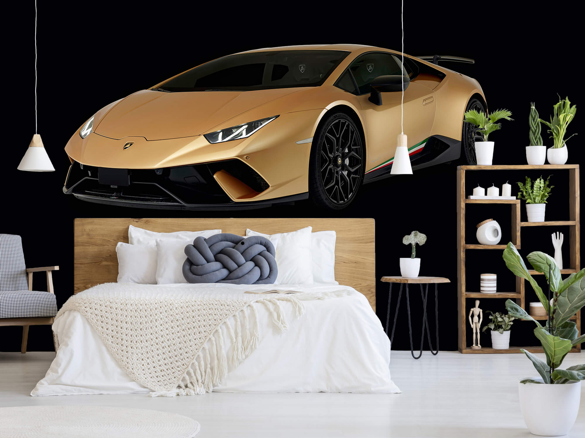 Wallpaper Lamborghini Huracán - Avant droit, noir 7