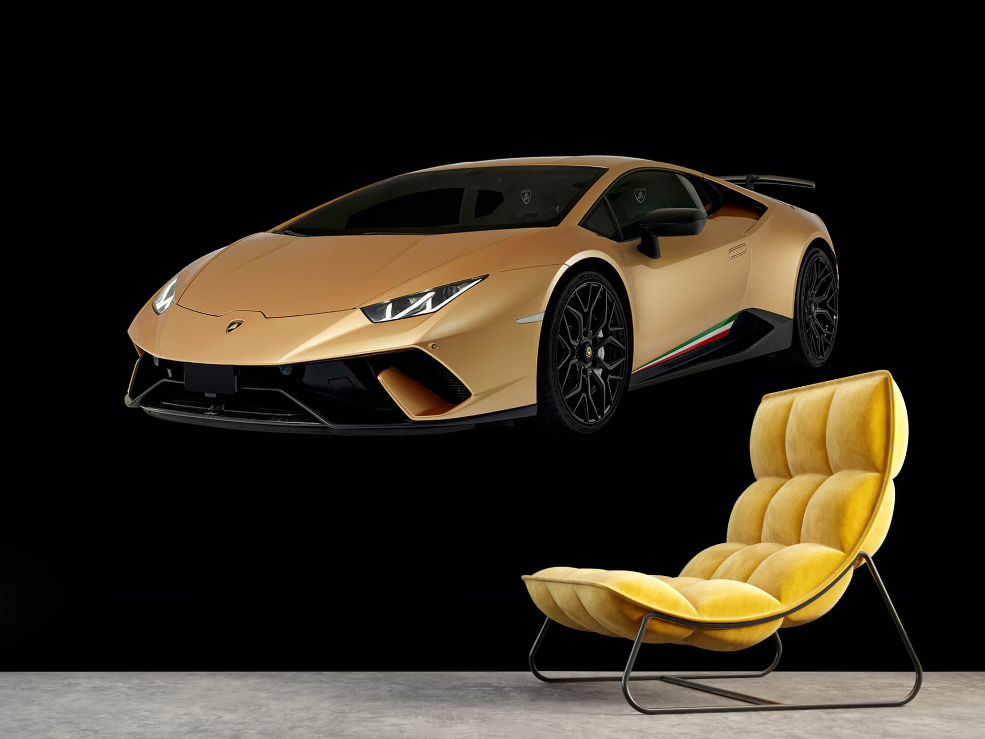 Wallpaper Lamborghini Huracán - Avant droit, noir 3