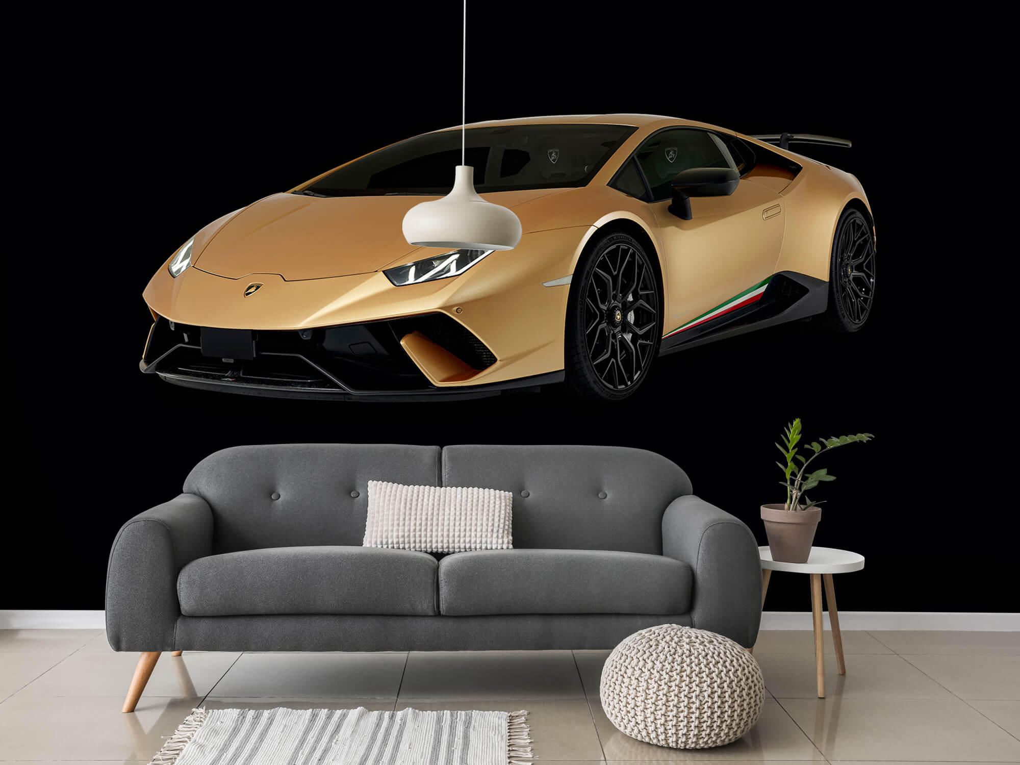 Wallpaper Lamborghini Huracán - Avant droit, noir 15