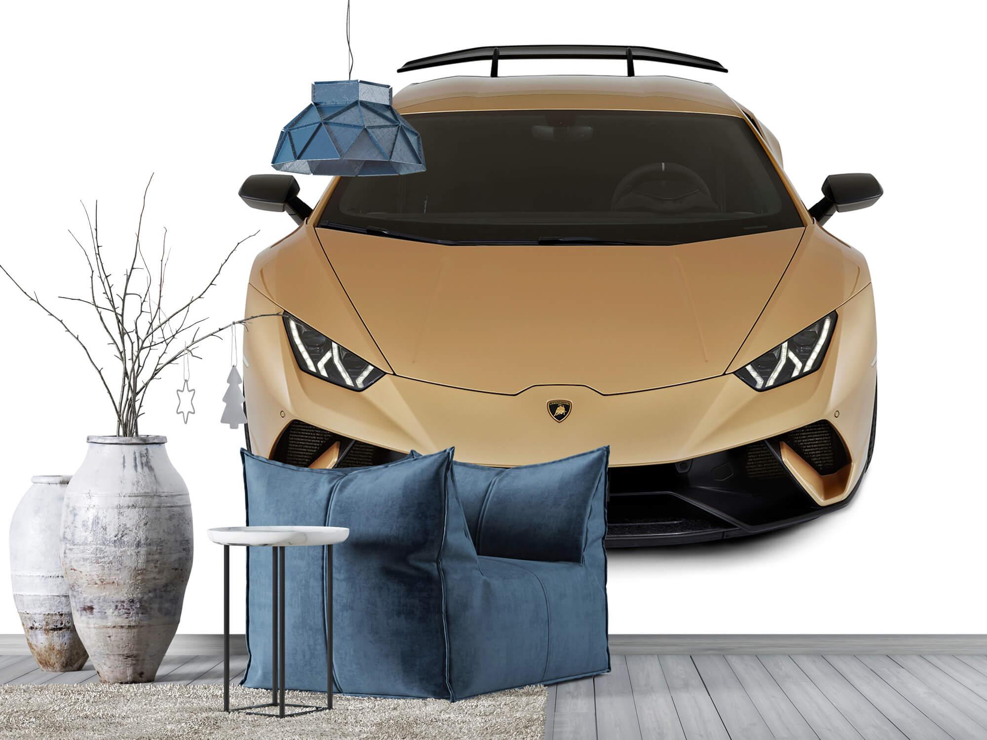 Wallpaper Lamborghini Huracán - Avant du dessus, blanc 9