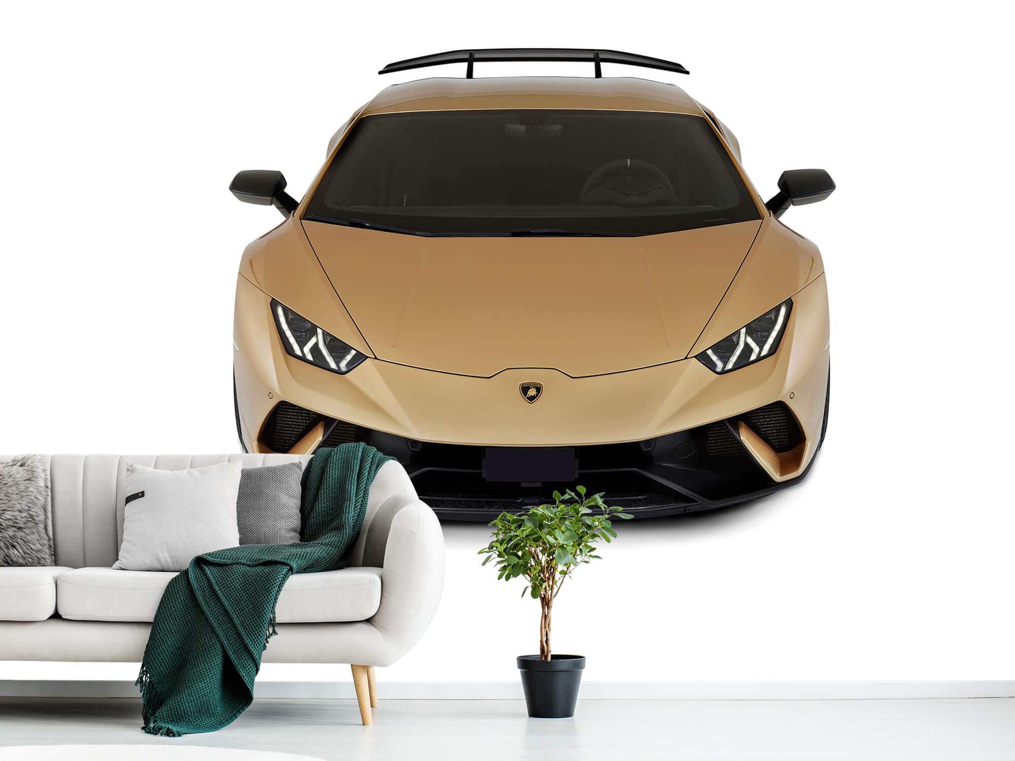 Wallpaper Lamborghini Huracán - Avant du dessus, blanc 1