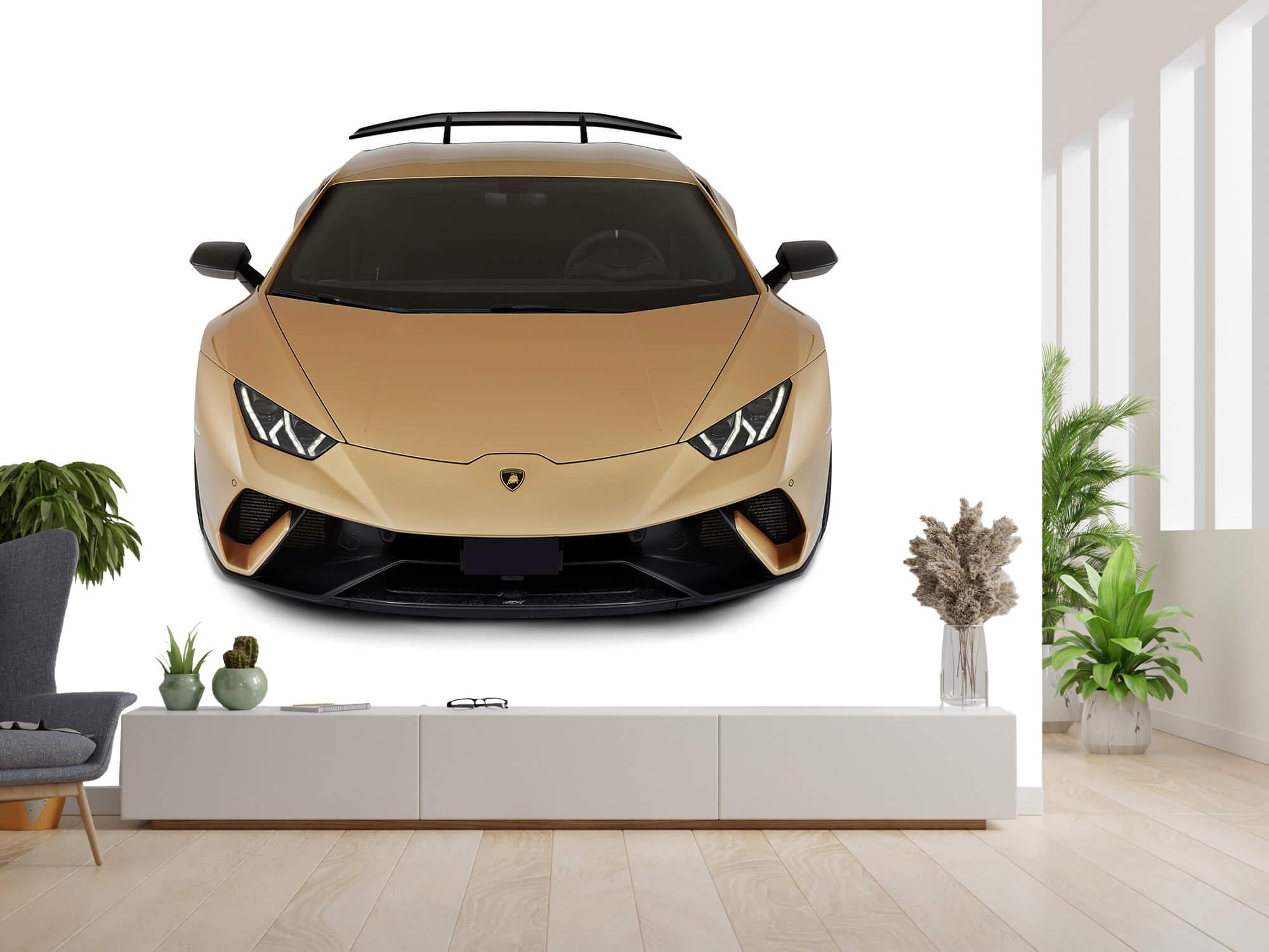 Wallpaper Lamborghini Huracán - Avant du dessus, blanc 4