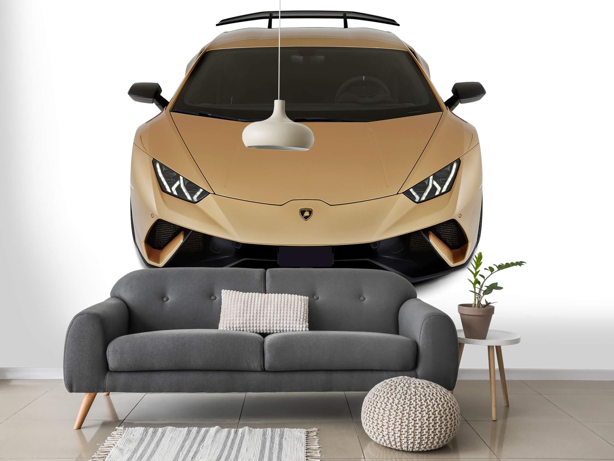 Wallpaper Lamborghini Huracán - Avant du dessus, blanc 14