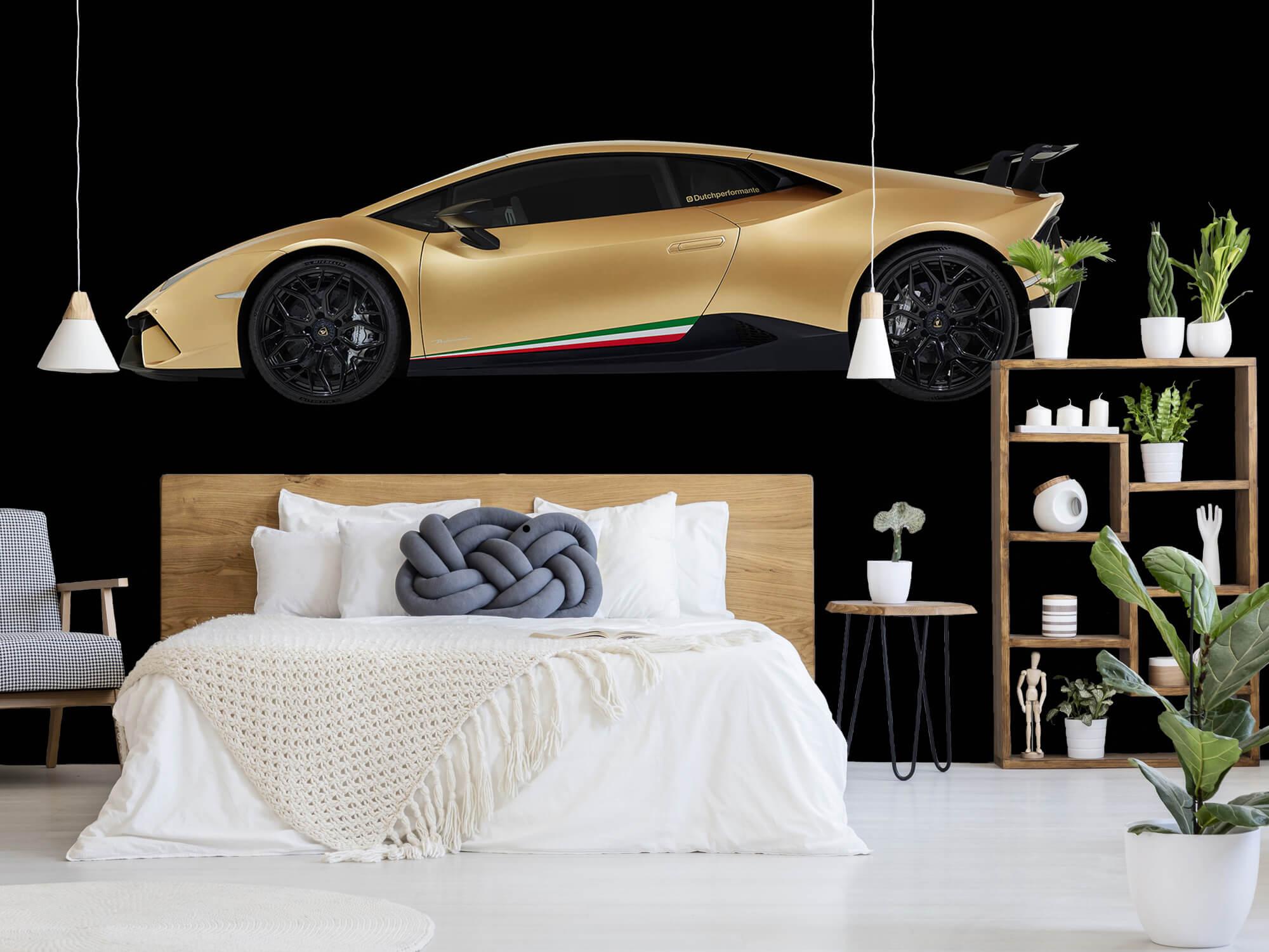 Wallpaper Lamborghini Huracán - Côté, noir 5
