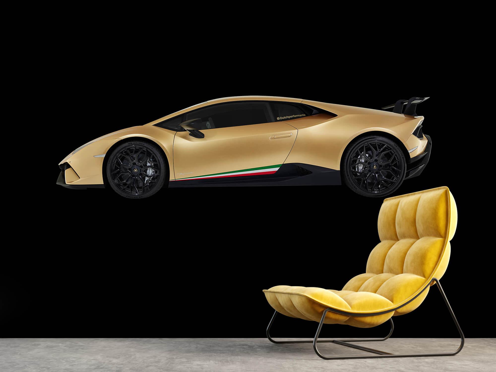 Wallpaper Lamborghini Huracán - Côté, noir 3