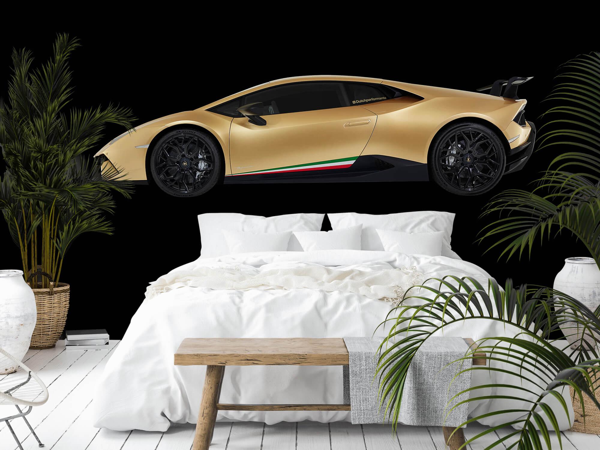 Wallpaper Lamborghini Huracán - Côté, noir 4