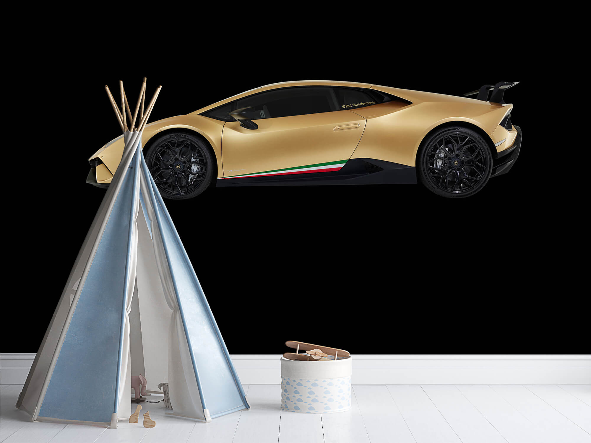 Wallpaper Lamborghini Huracán - Côté, noir 11