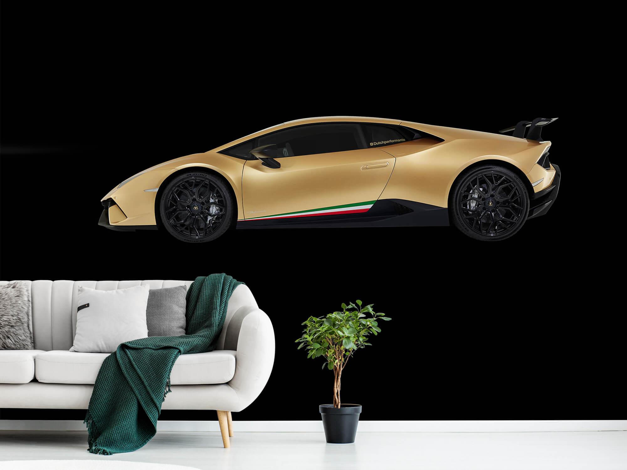 Wallpaper Lamborghini Huracán - Côté, noir 13
