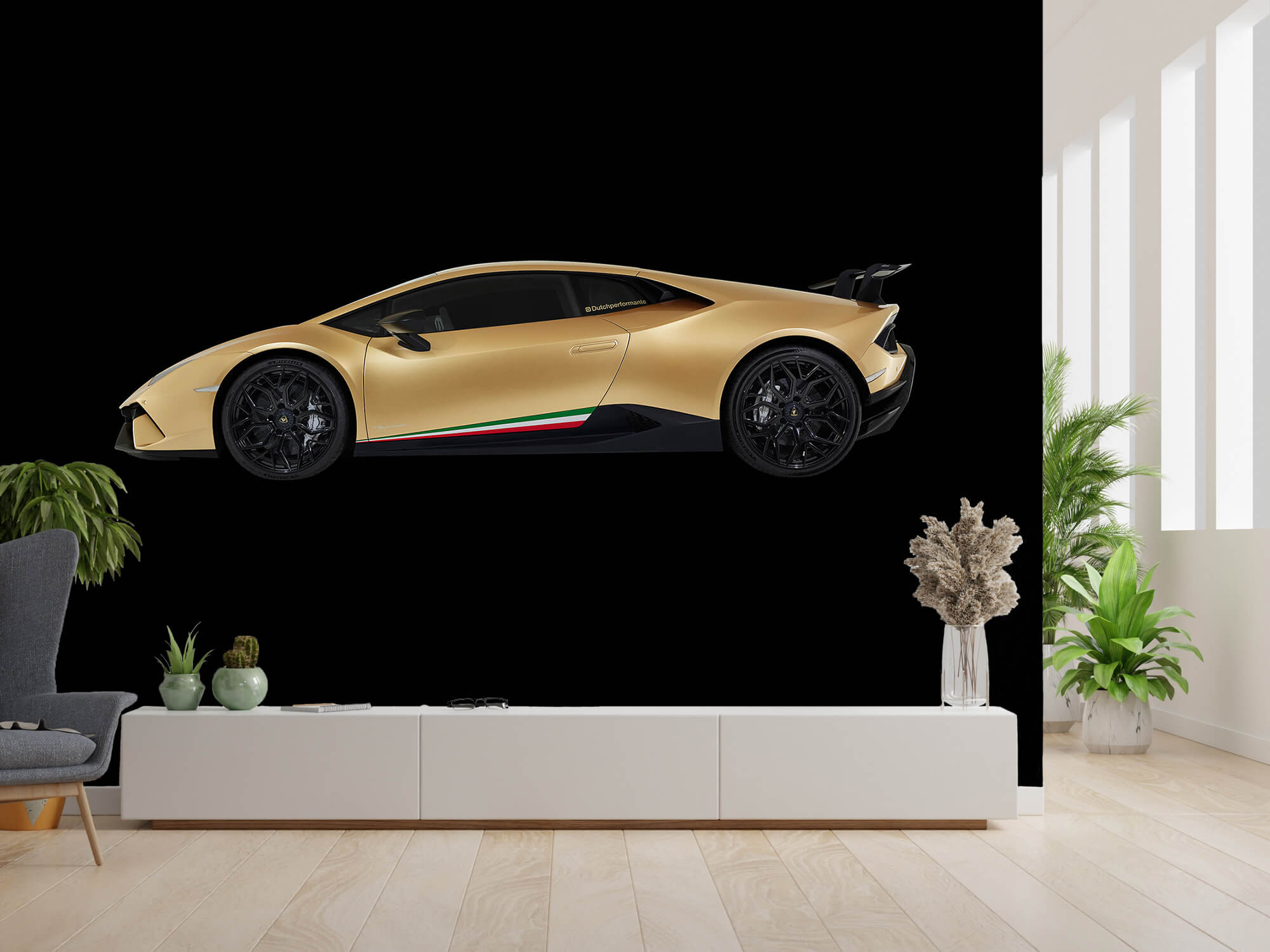 Wallpaper Lamborghini Huracán - Côté, noir 1