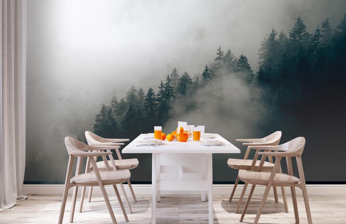 Wallpaper Matin alpin brumeux 2