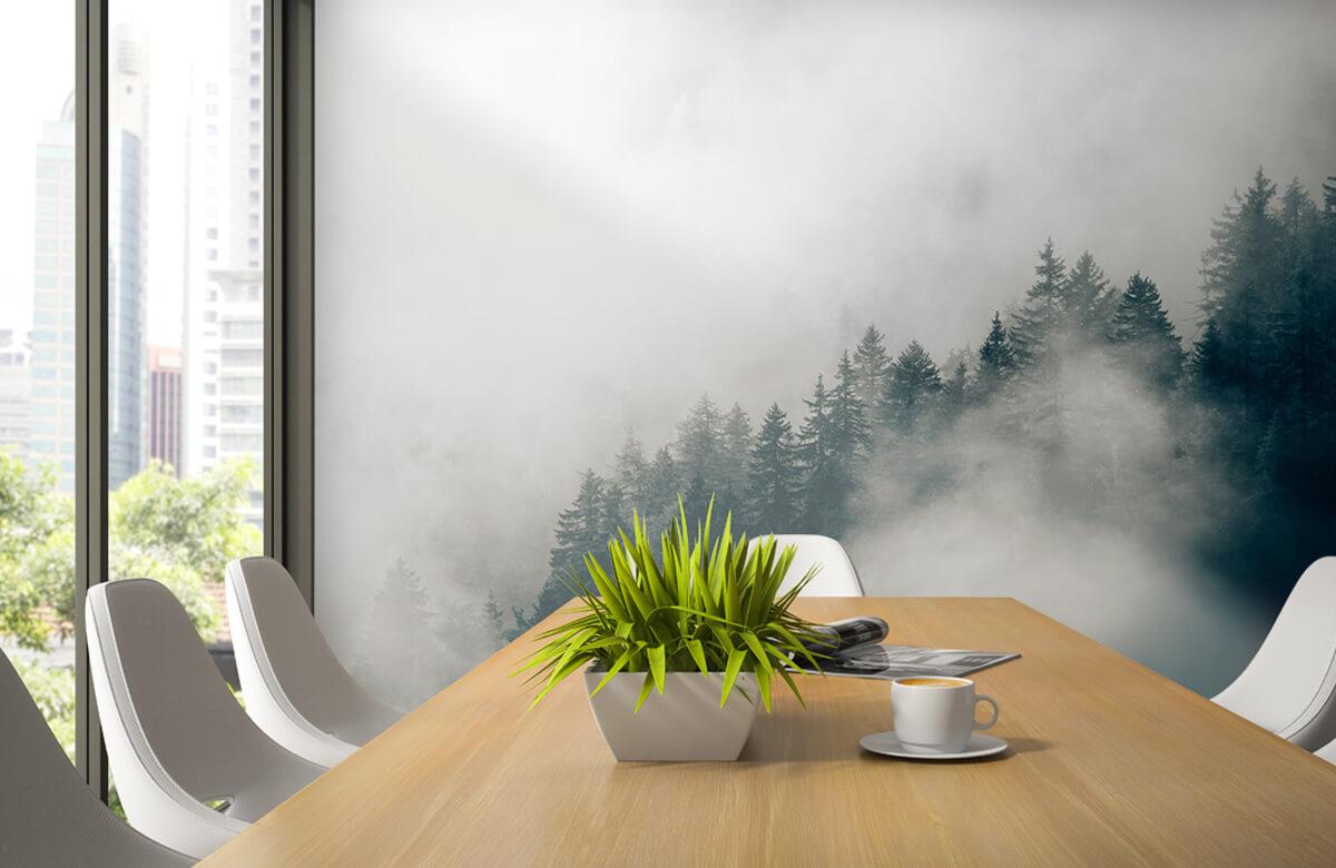Wallpaper Matin alpin brumeux 4