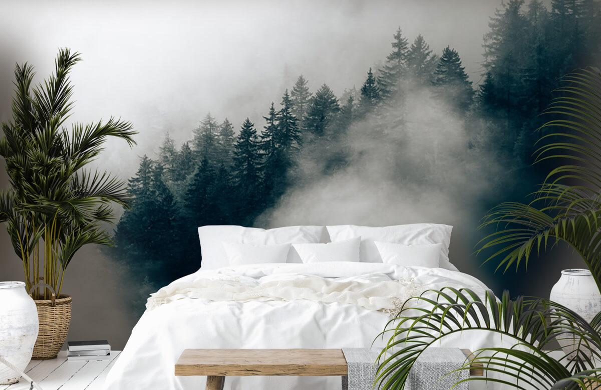 Wallpaper Matin alpin brumeux 5