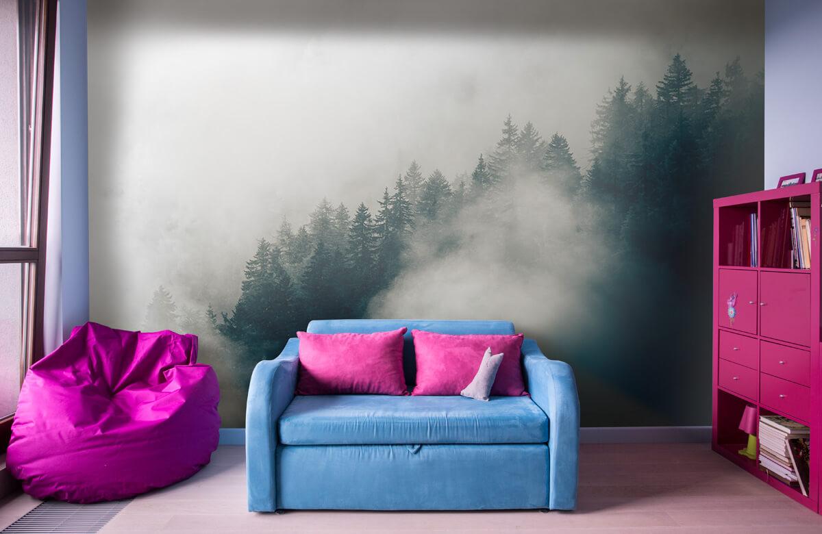 Wallpaper Matin alpin brumeux 11