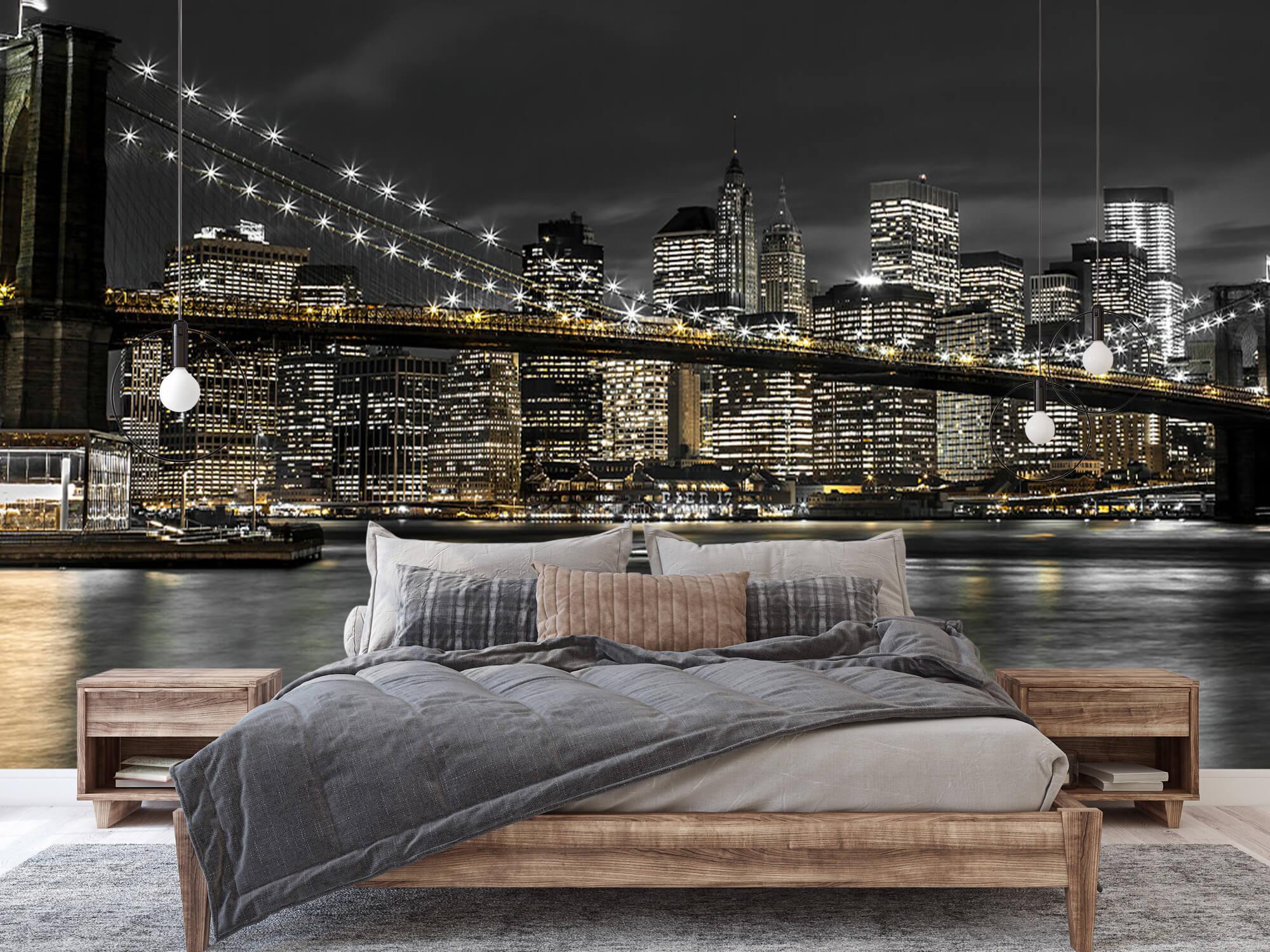 Le pont de Brooklyn la nuit 3