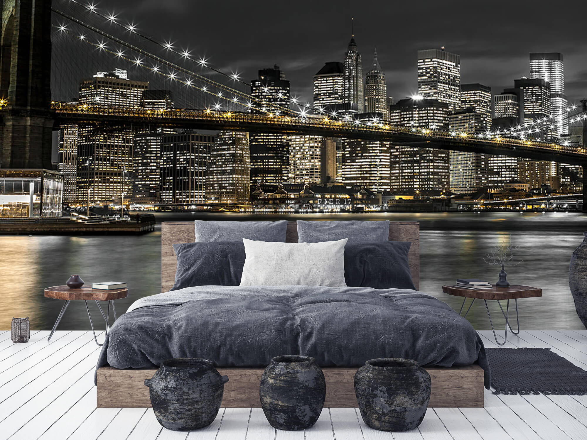 Le pont de Brooklyn la nuit 11