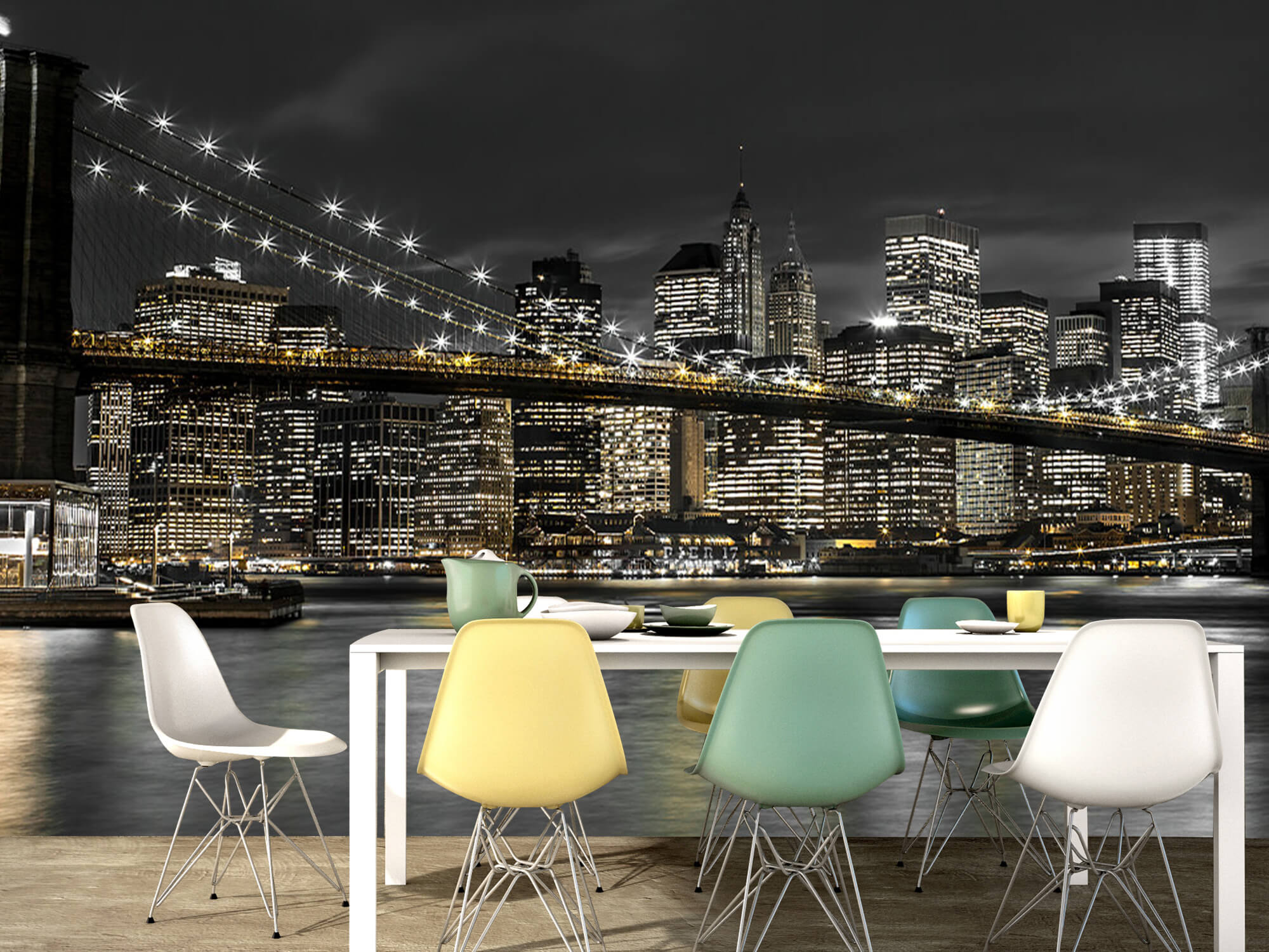 Le pont de Brooklyn la nuit 16