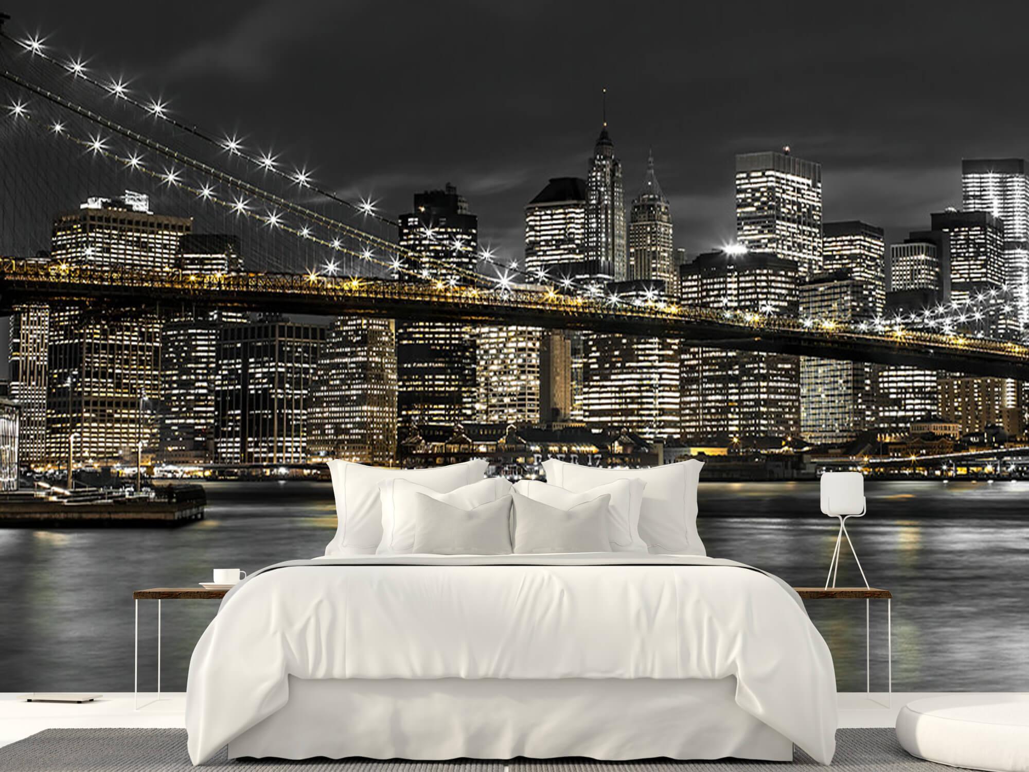 Le pont de Brooklyn la nuit 4