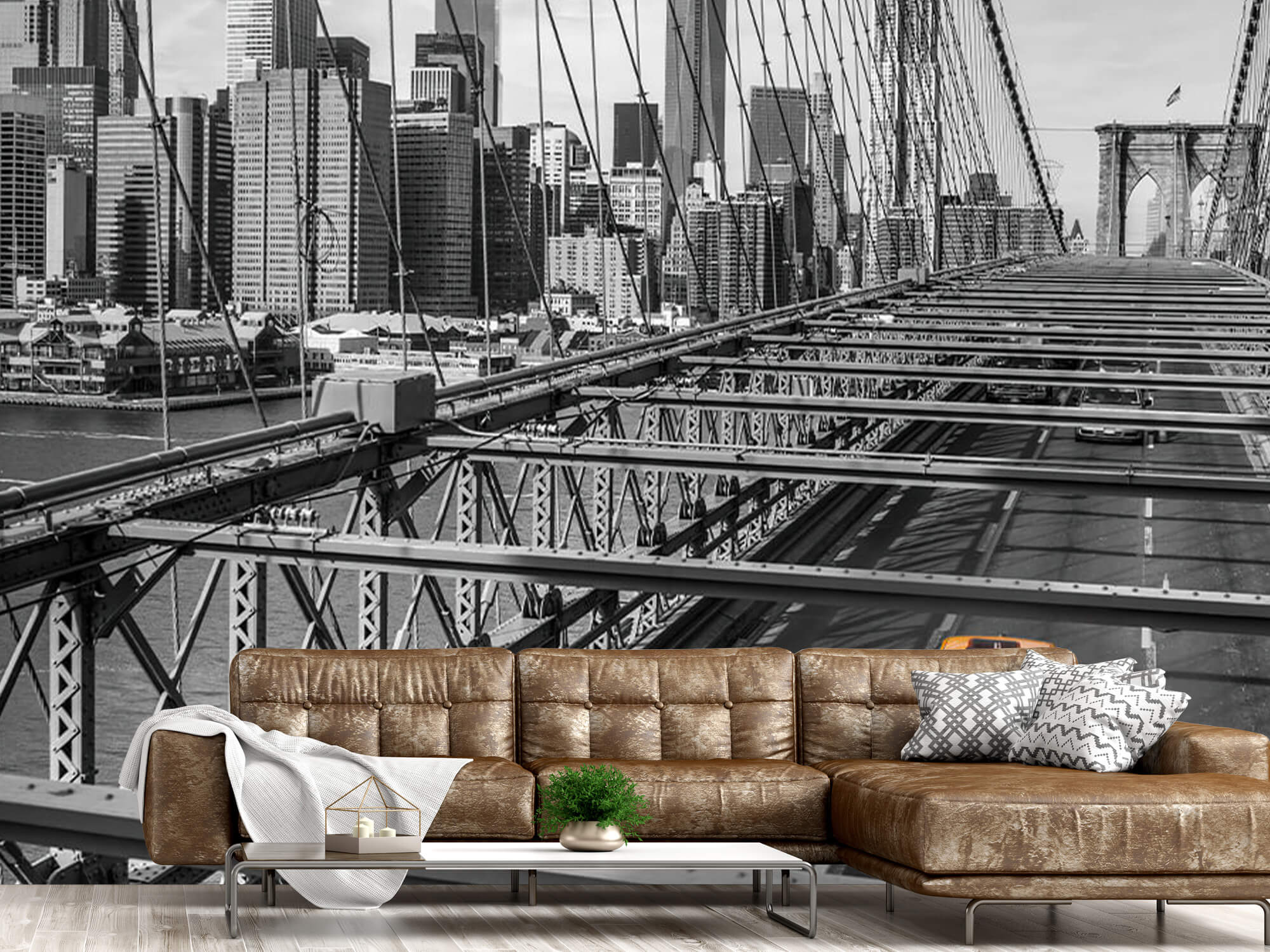 Un taxi sur le pont de Brooklyn 17