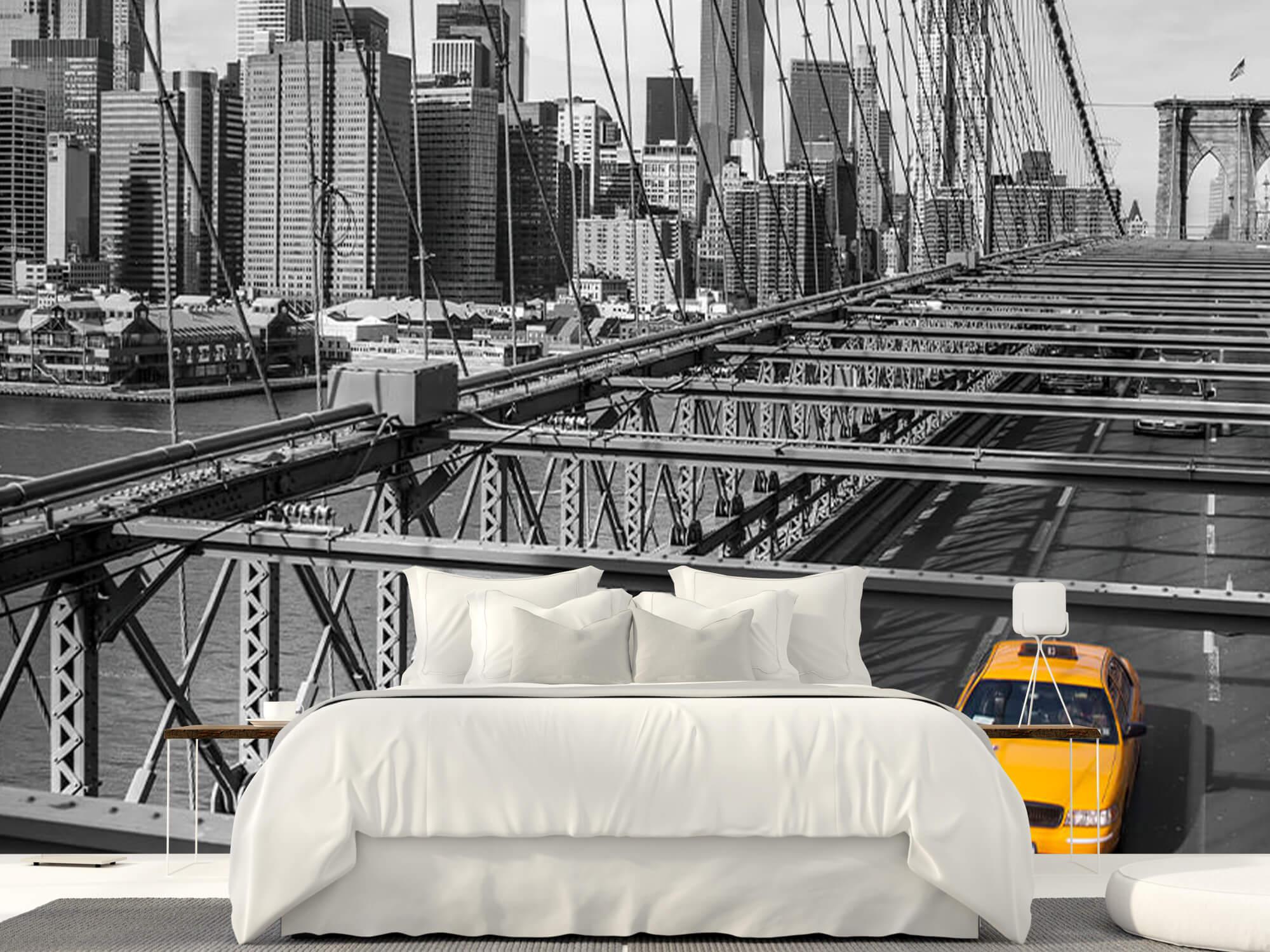 Un taxi sur le pont de Brooklyn 1