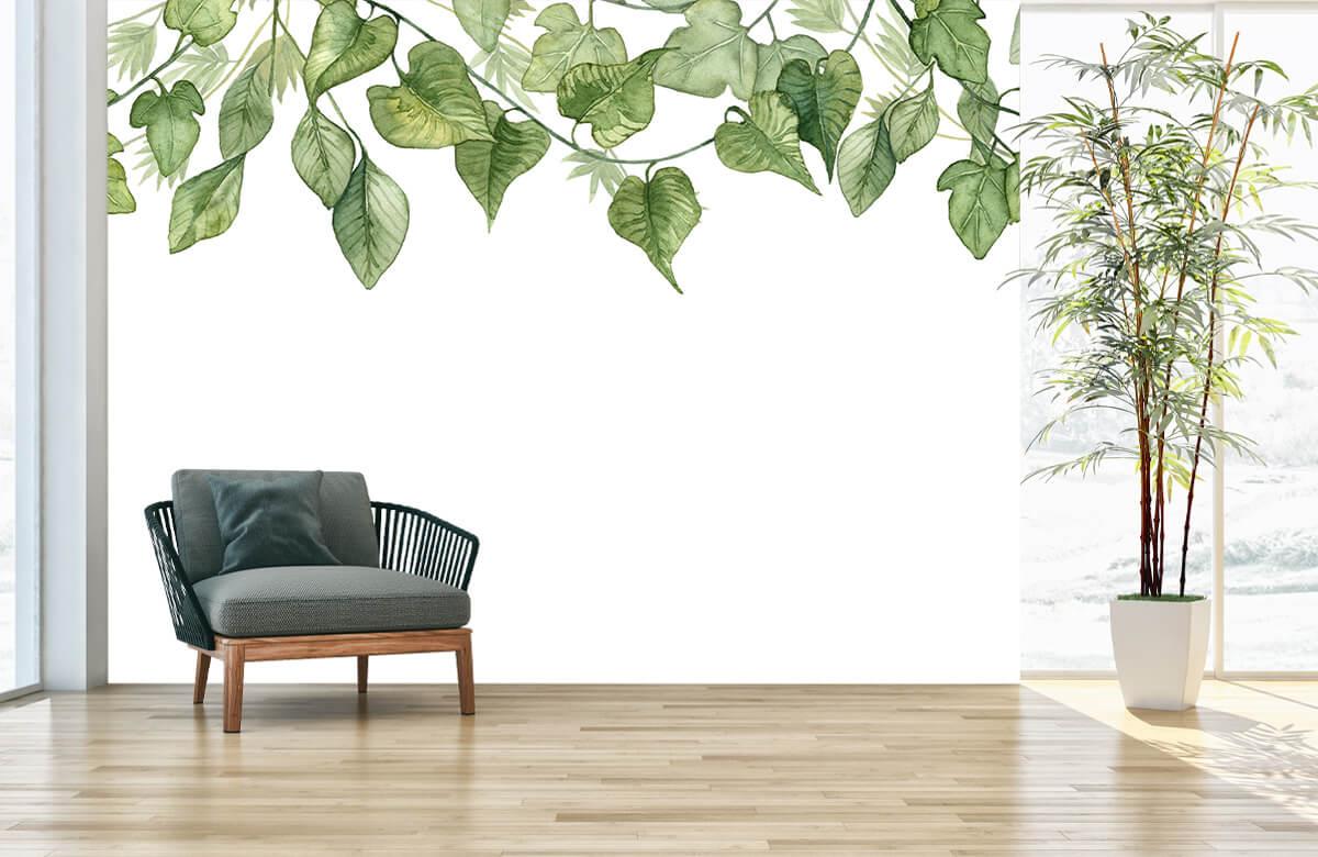 Des feuilles à l'aquarelle suspendues 4