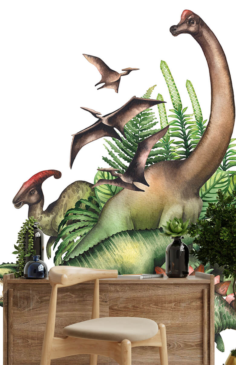 Dino's à l'aquarelle 1