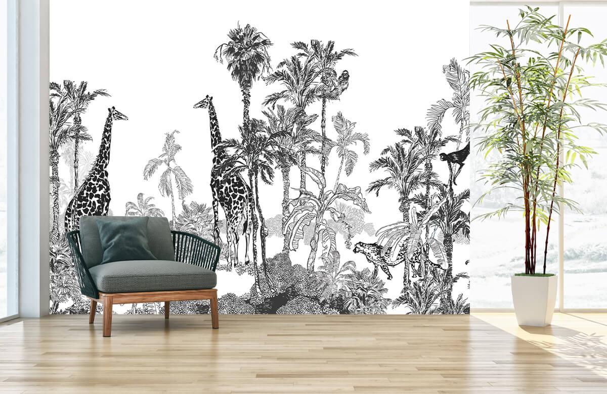 Croquis d'animaux dans la jungle 5
