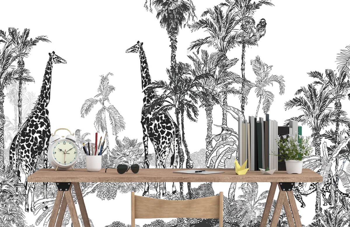 Croquis d'animaux dans la jungle 1