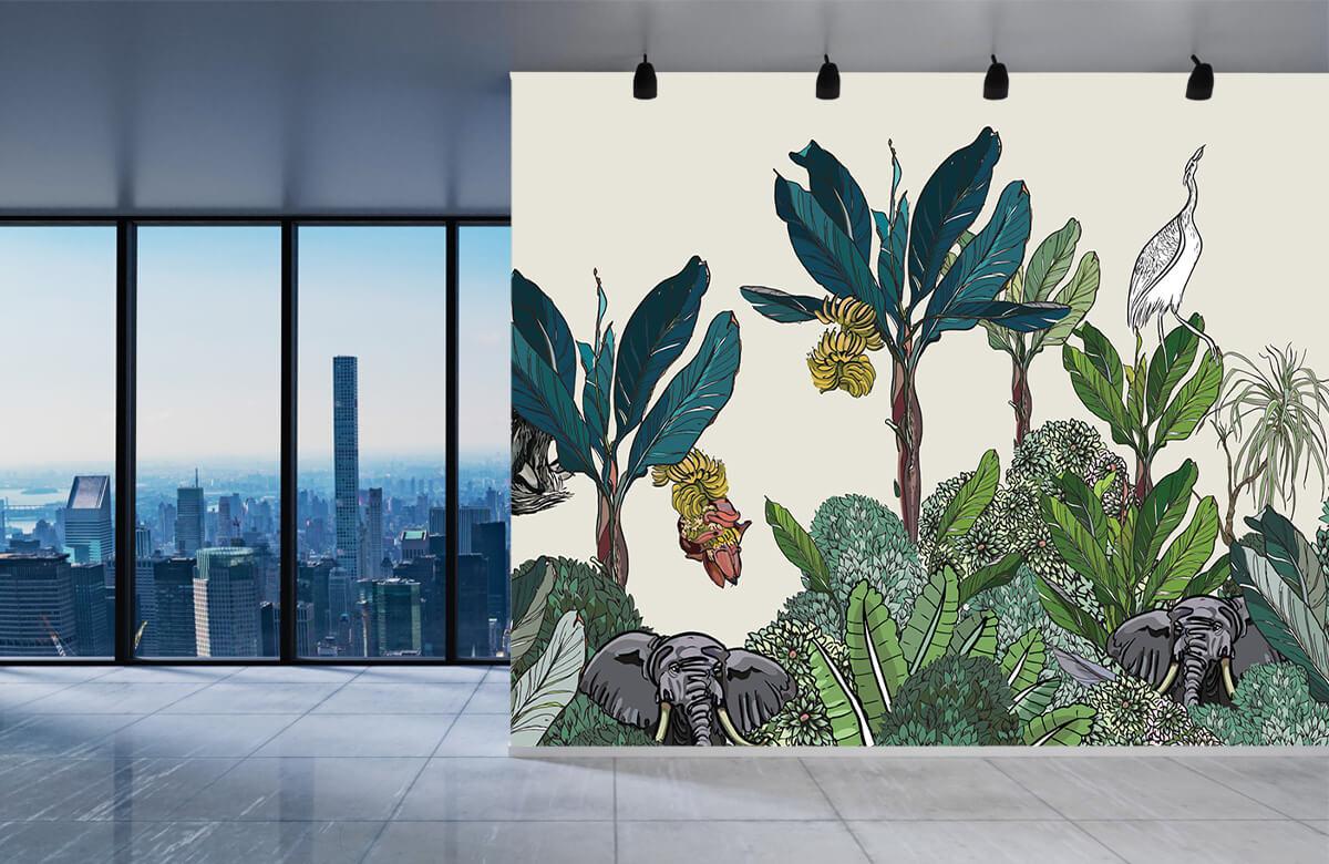 Panorama de la jungle avec des animaux 3