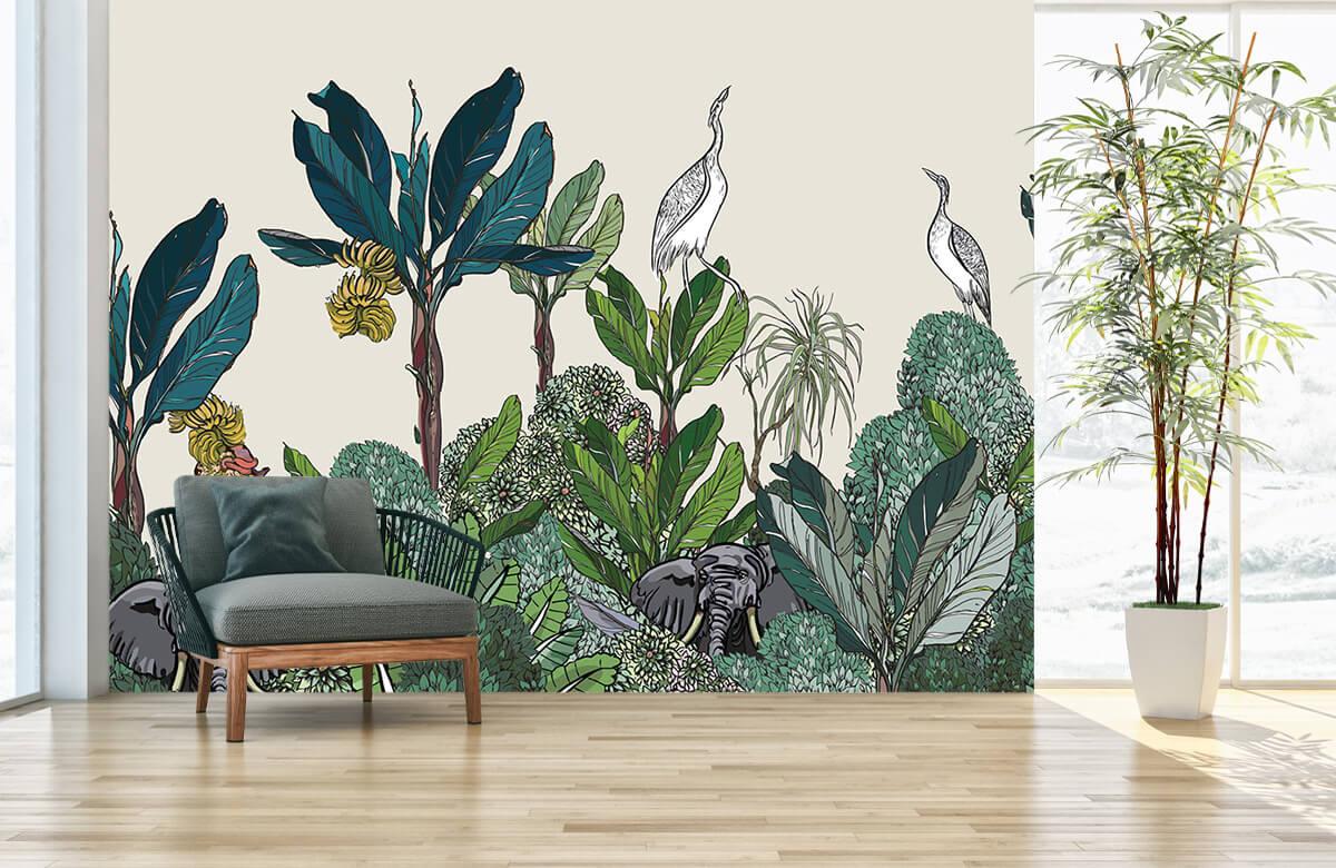 Panorama de la jungle avec des animaux 1