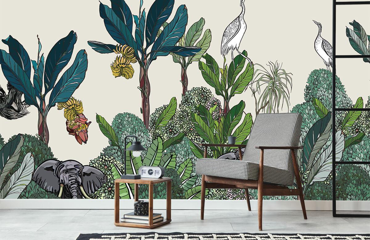 Panorama de la jungle avec des animaux 6