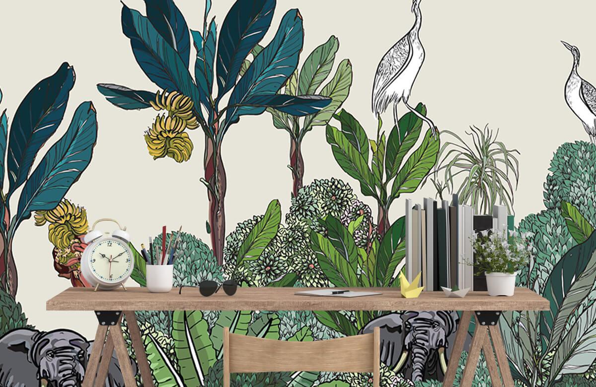 Panorama de la jungle avec des animaux 4