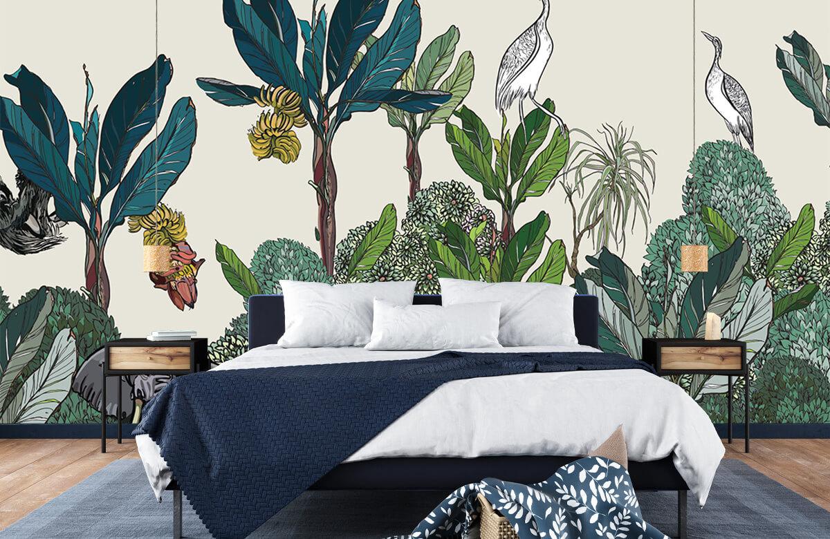 Panorama de la jungle avec des animaux 9