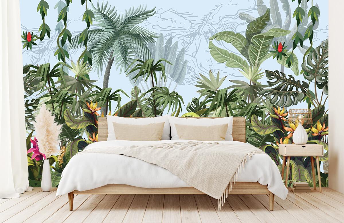 Arbres et fleurs de la jungle 1