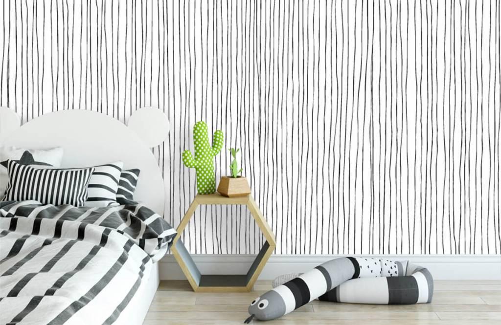 Fond d'écran abstrait - Lignes abstraites en noir et blanc - Entrepôt 2