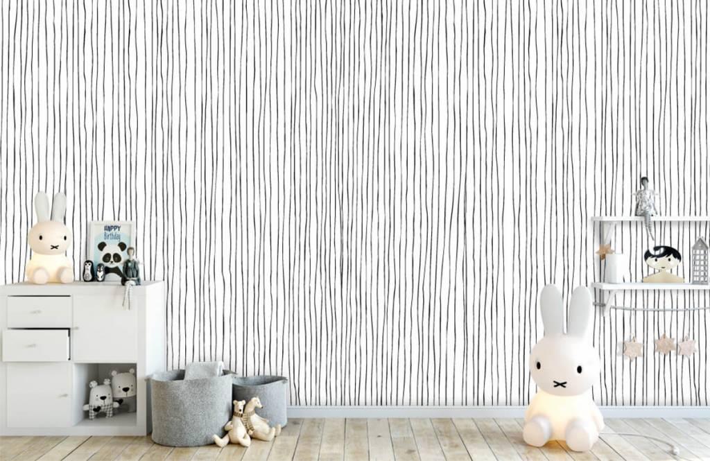 Fond d'écran abstrait - Lignes abstraites en noir et blanc - Entrepôt 4